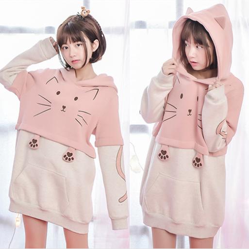 Harajuku cute cat hoodie SE8771 | Hoodie
