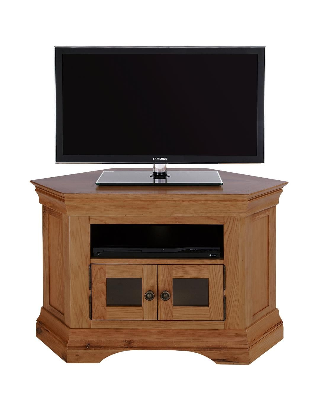 Luxe Collection Constance Oak Ready Assembled Corner Tv Unit Fits
