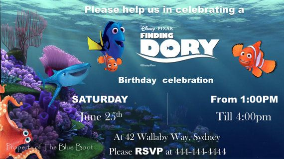 Download Now Finding Dory Invitations Ideas Download This Invitation