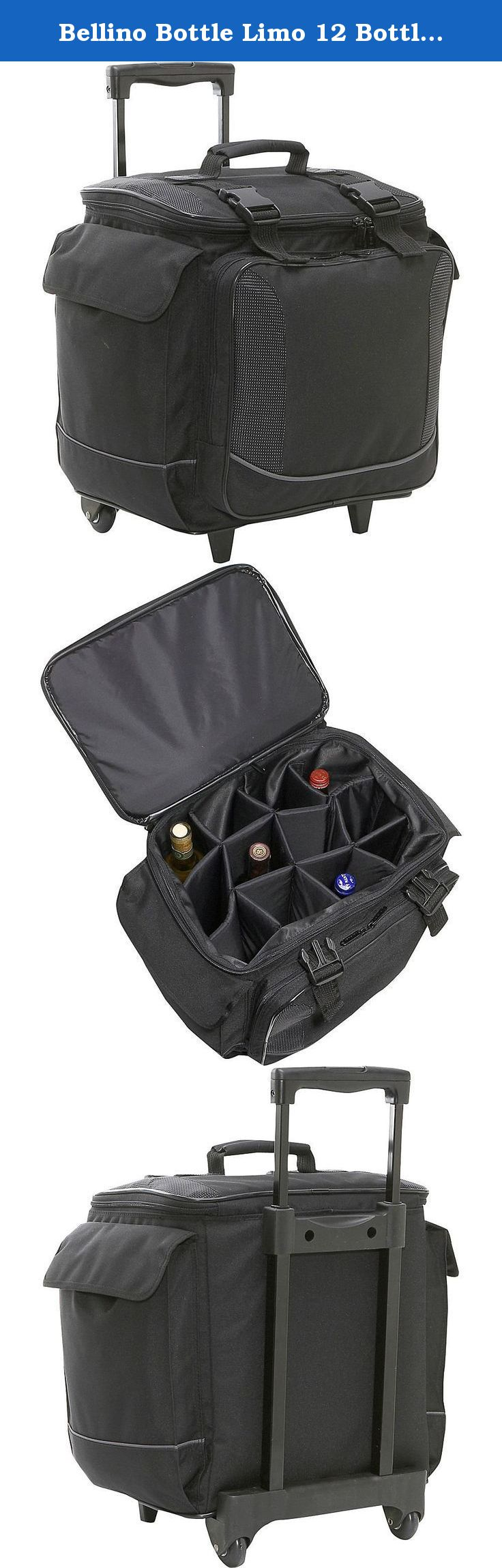 Bellino Bottle Limo 12 Bottle Insulated Wine Tote Case Wheel Travel Cooler With Organizer Black Made Of 600d Polyester This Unique W With Images Wine Bag Bags Wine Tote