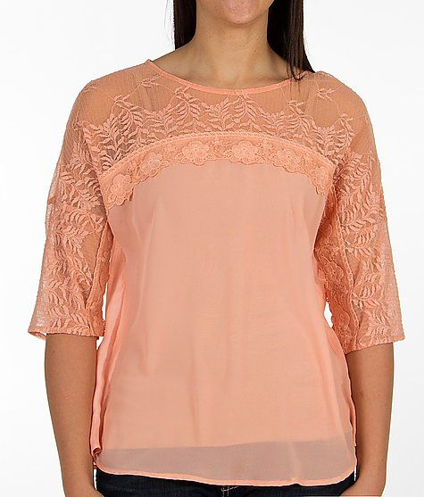 Gimmicks by BKE Pieced Lace Shirt