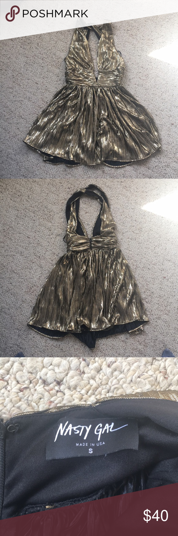 Nasty gal gold dress pinterest gold minis and shorts
