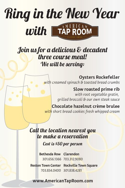 Ring In The New Year With American Tap Room With Images