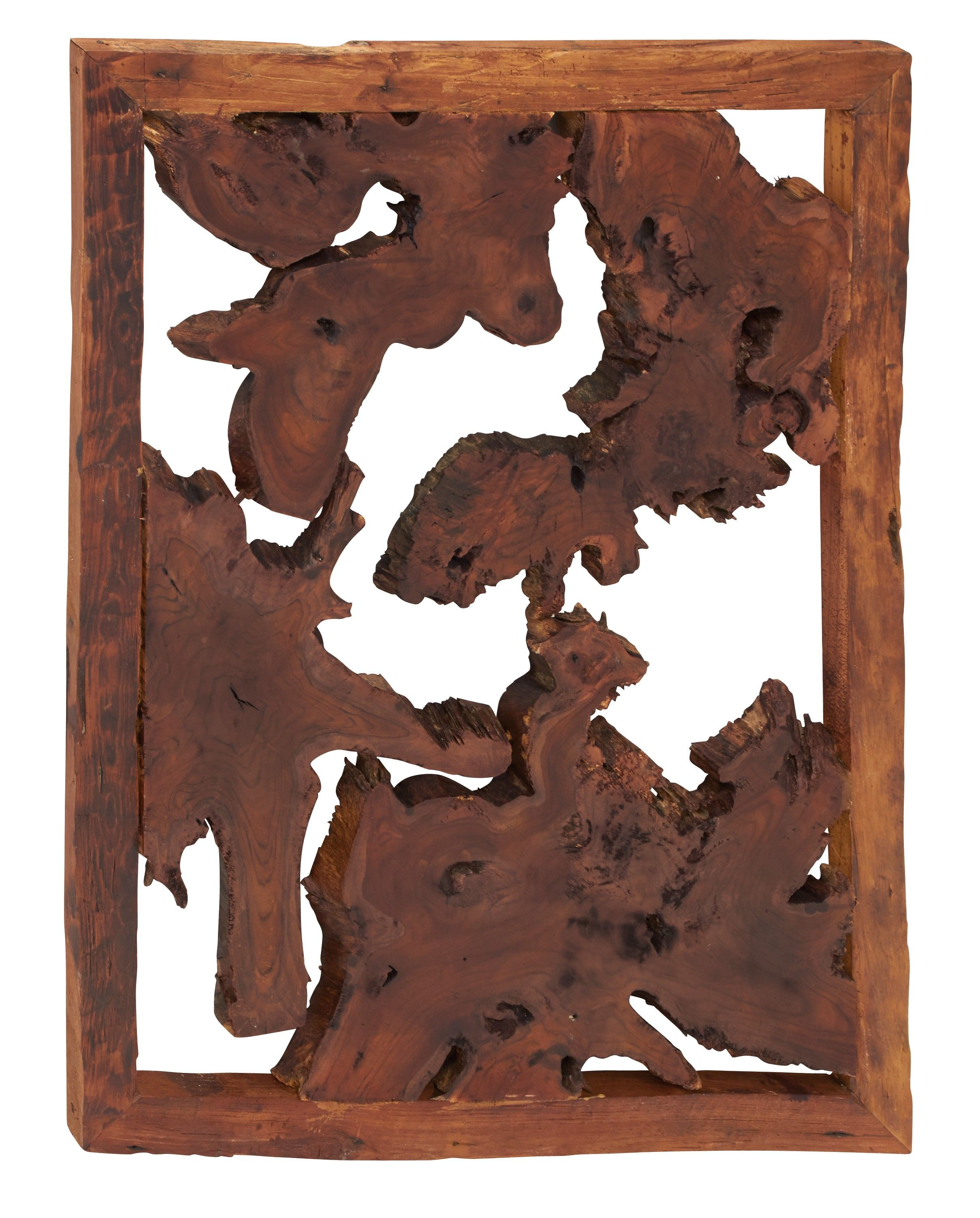 Contemporary and modern style wood teak wall plaque home d