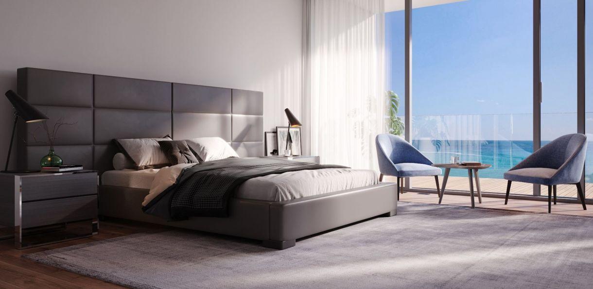 Cama Gray Bed - Beds - Bedroom #ModaniFurniture #accessories
