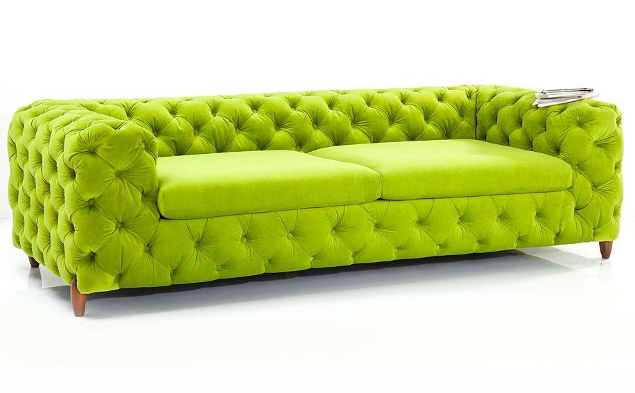 Sofa verde chester Vintage Desire Material: Madera de Abeto ... Eur ...