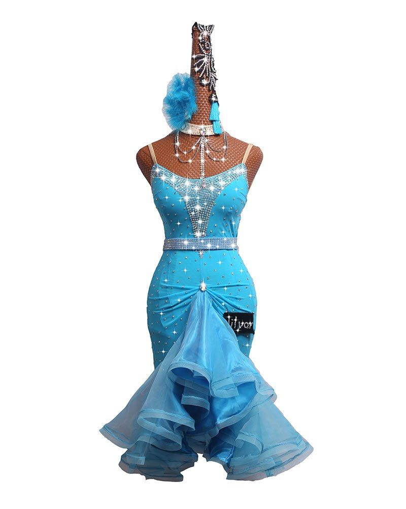 caa28c2b1a DHL Free Shipping Competition Latin Dance Dress Stage Performing ...