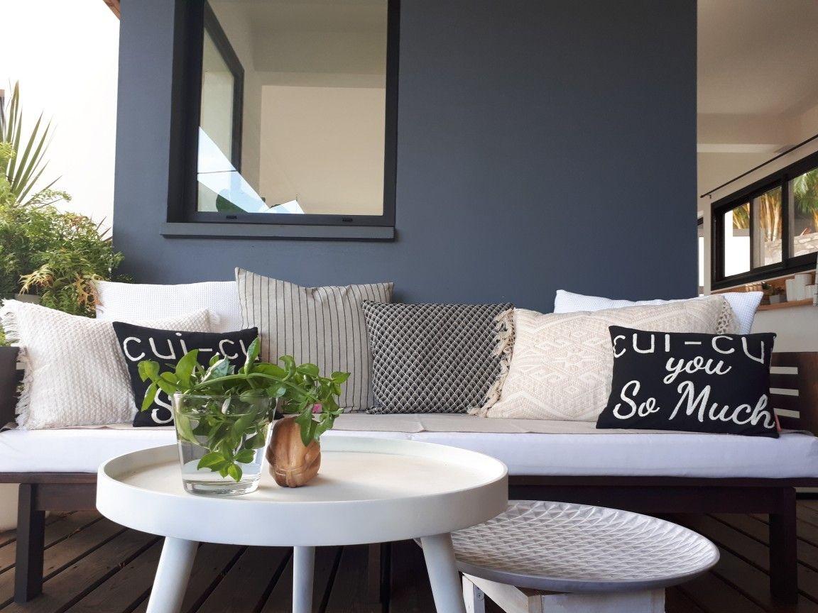 Salon Exterieur Terrasse Coussins By Rouge Celadon Ile De La Reunion Home Decor Decor Outdoor Furniture