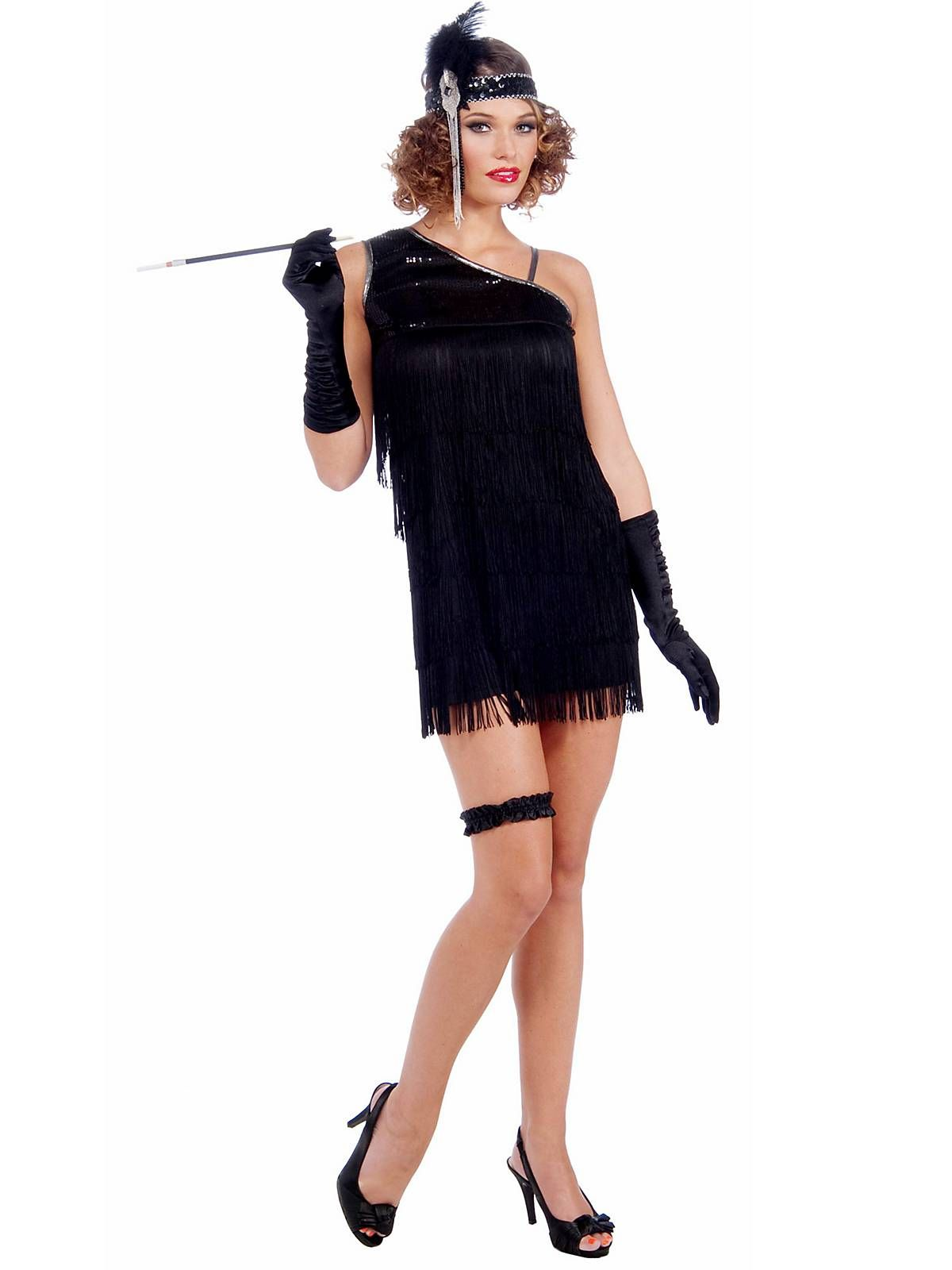 eb3ed2ad47b The Women s Sexy Black Diamond Dazzle Flapper Costume is the perfect flapper  outfit for 20 s themed parties.