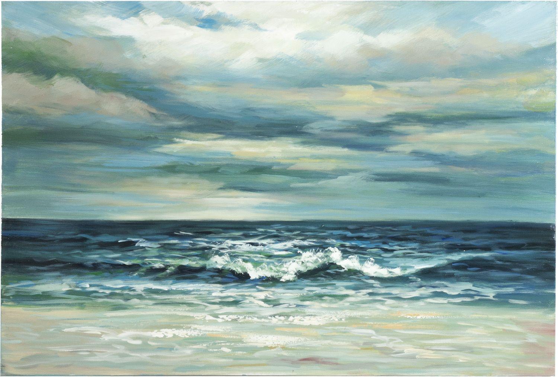 Dipinto a mano su tela ammirando il mare paesaggi for Quadri dipinti a mano paesaggi