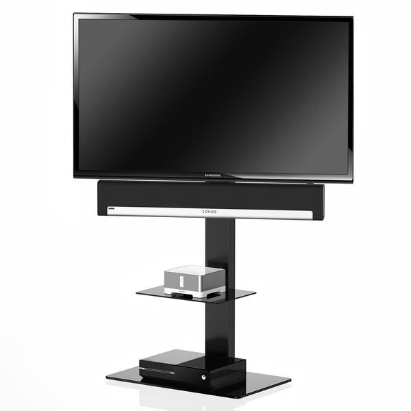 Itueyes Swivel Floor Tv Stand With Mount And Two Component Shelves