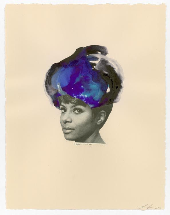 Jet Black By Lorna Simpson 2012 Art Artwork Watercolor