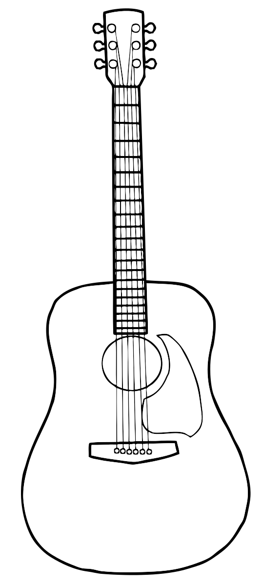 Guitar Acoustic Drawing Pictures Png Image High Quality Guitar Drawing Guitar Guitar Patterns