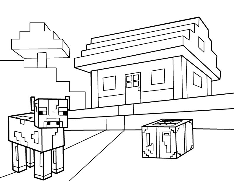 Minecraft Coloring Pages Minecraft Coloring Pages House
