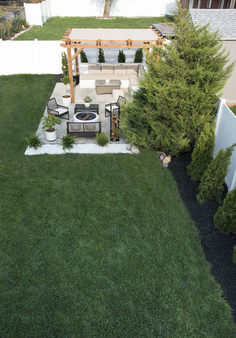 backyard landscaping design my house pinterest
