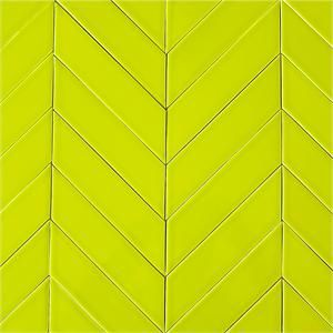Ceramic Chevron Subway Tile For Kitchen Backsplash Or Bathroom Tile In Green Color Chartreuse Chevron Tile Modwalls Scallop Tile Backsplash