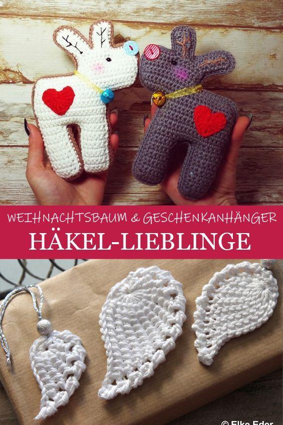 Photo of Häkel-Lieblinge: Weihnachtsbaum und Geschenkanhänger  Zehn tolle Häkelanleitu…