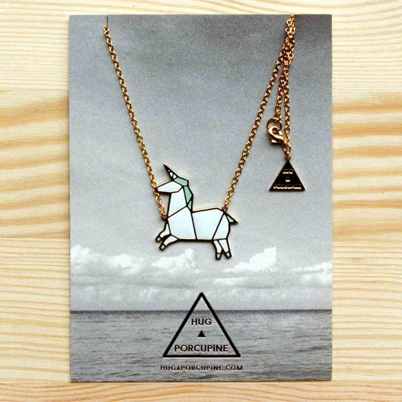 Origami Unicorn Necklace By Hug A Porcupine Httpwww
