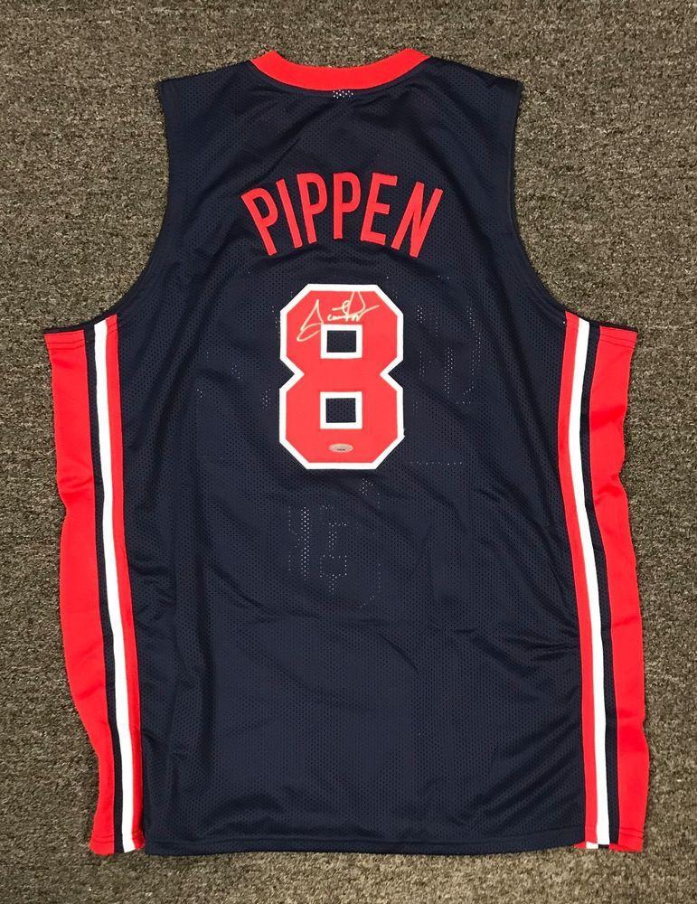 8c3f36339 Scottie Pippen  8 Signed USA Olympics Jersey Autographed Sz XL TRISTAR COA  HOF
