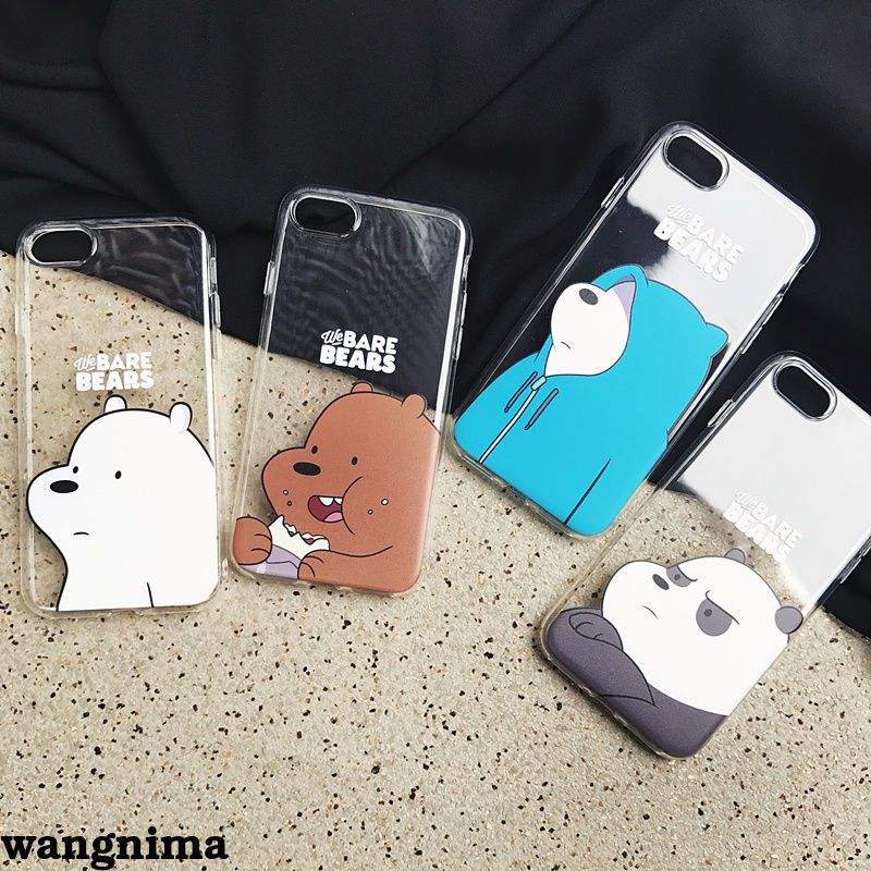 30a790bb56 $7.99 - We Bare Bears Ice Bear/Grizzly Phone Case Cover For Iphone 6/6Splus  /7/7Plus #ebay #Electronics