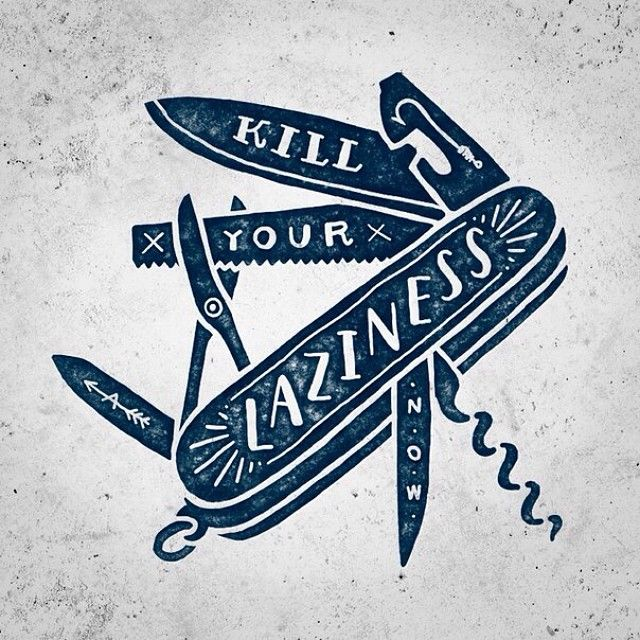 Few ways to kill your laziness!  #typo #typespire #typography #lettering #handdrawn #handlettering #design #art #goodtype #goodletters #inst...