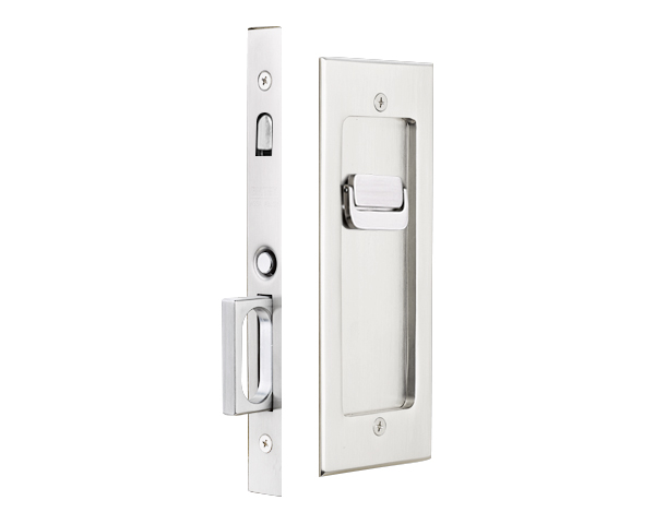 Pocket Door Mortise Modern Rectangular Emtek Products Inc Pocket Doors Pocket Door Hardware Door Accessories