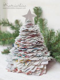 Katrinshine Recycled Paper Christmas Tree Diy Recycled Christmas Tree Paper Christmas Tree Diy Christmas Tree