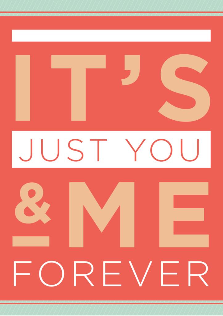 You & Me Valentine's Day printable