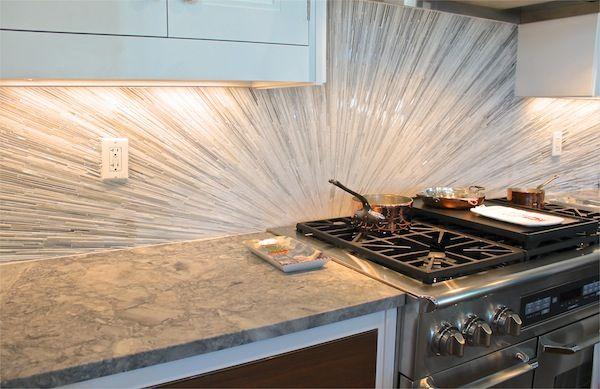 2012 Hampton Designer Showhouse Kitchen Bakes And Company Amazing Mirrored Tile  Backsplash