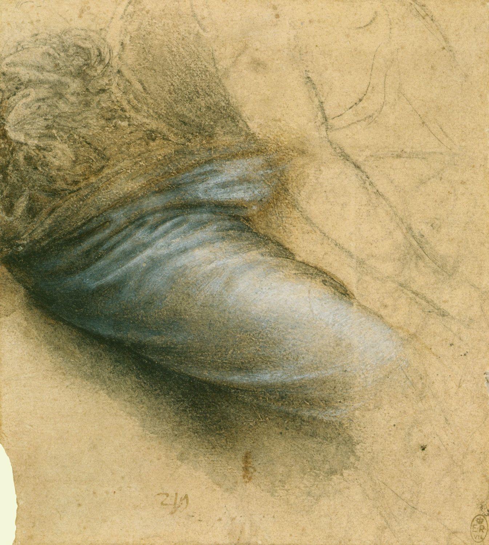 The Drapery Of The Virgin S Thigh Leonardo Da Vinci Vinci 1452