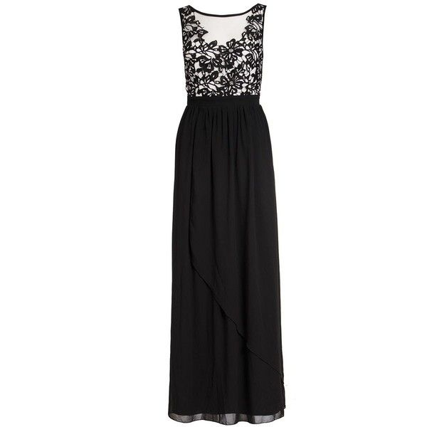 Quiz Black Crochet Flower Maxi Dress (£40) ❤ liked on Polyvore ...
