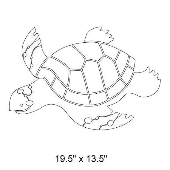 Today Sea Turtle Wall Stencil For Painting Kids Or Baby Room Mural Sku272 Istencil