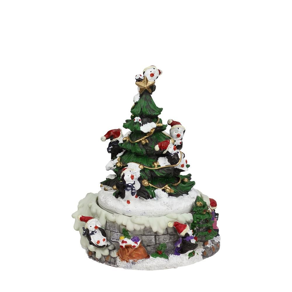 Northlight 6 In Animated Penguin And Christmas Tree Winter