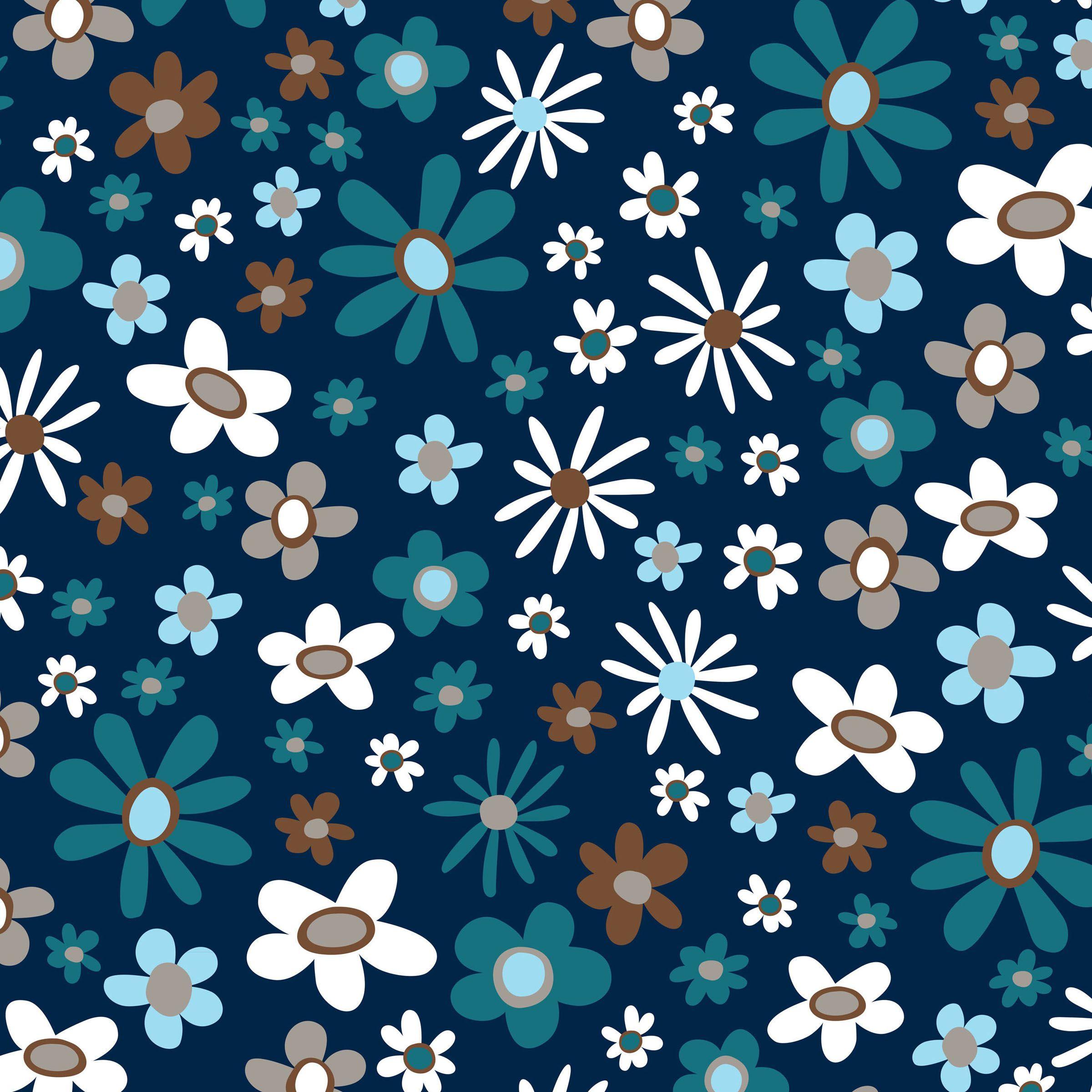 Blizzard Fleece Fabric Blue Floral Explosion Joann