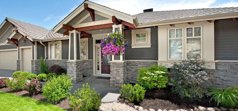 Home Exterior Entrance Black Mountain Pro Fit Alpine Ledgestone Cultured Stone Brand