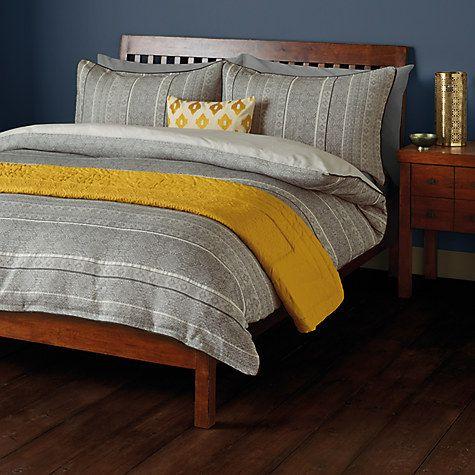 John Lewis Fusion Amala Jacquard Duvet Cover And Pillowcase Set Online At Johnlewis