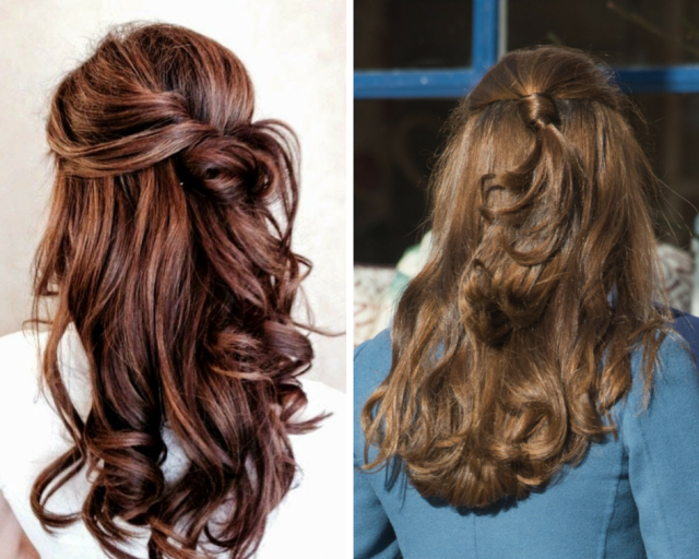 classy pinnedback hairstyles for prom