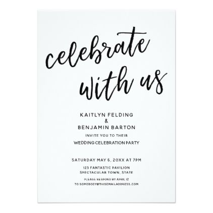 Quot Celebrate With Us Quot Casual Modern Wedding Party Card