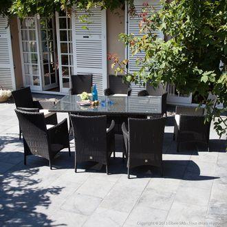 Soldes Salon De Jardin Delamaison Salon Jardin 8 Places Carini