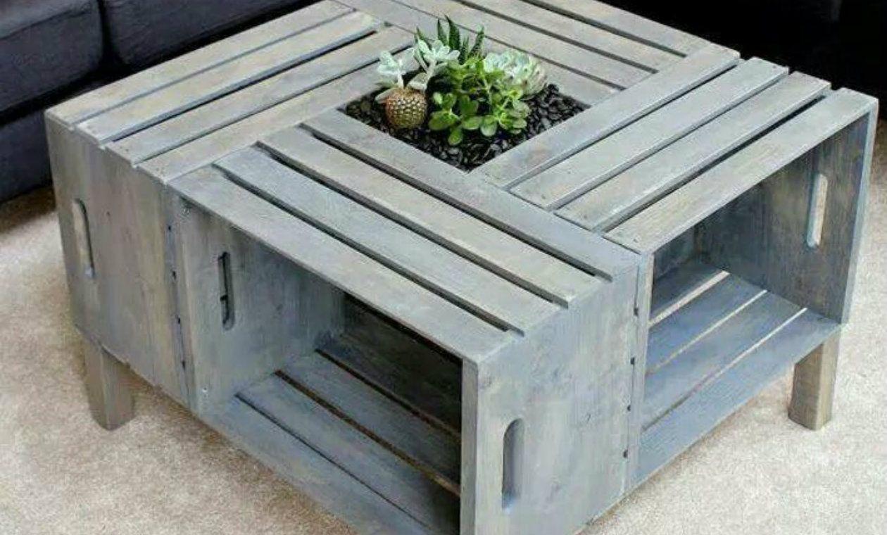 DIY muebles hechos con cajones de verdura | Cajones de verdura ...