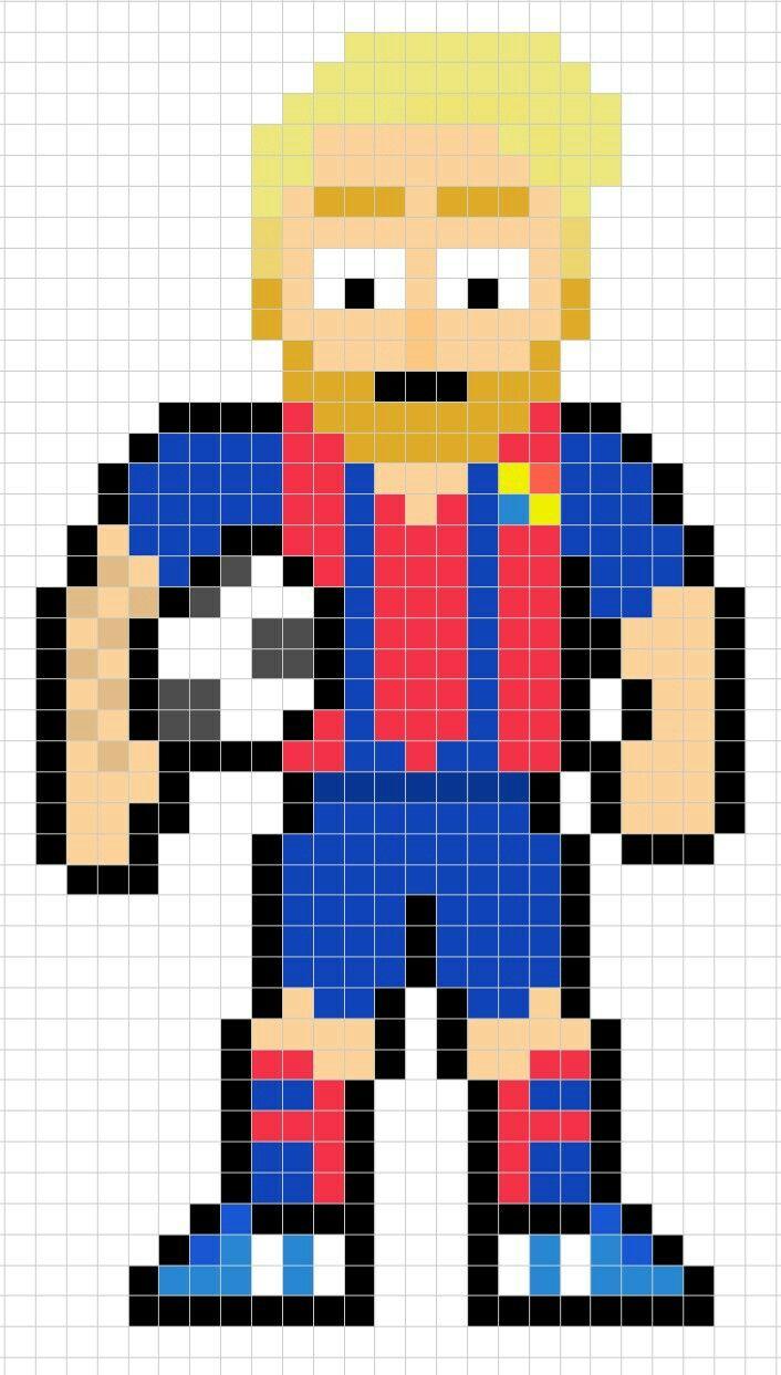 Lionel Messi Pixel Art Pixel Art Facile Pixel Art Et