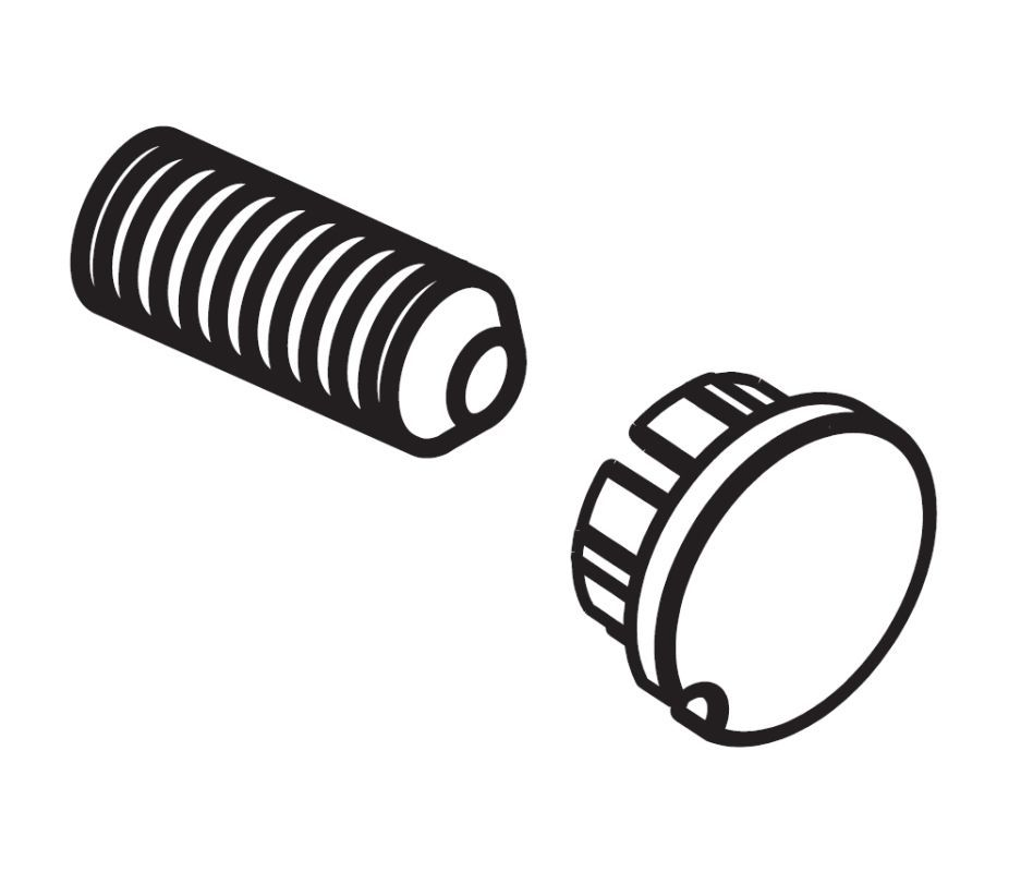 Delta RP72564 Replacement Screw with Button Brilliance Stainless