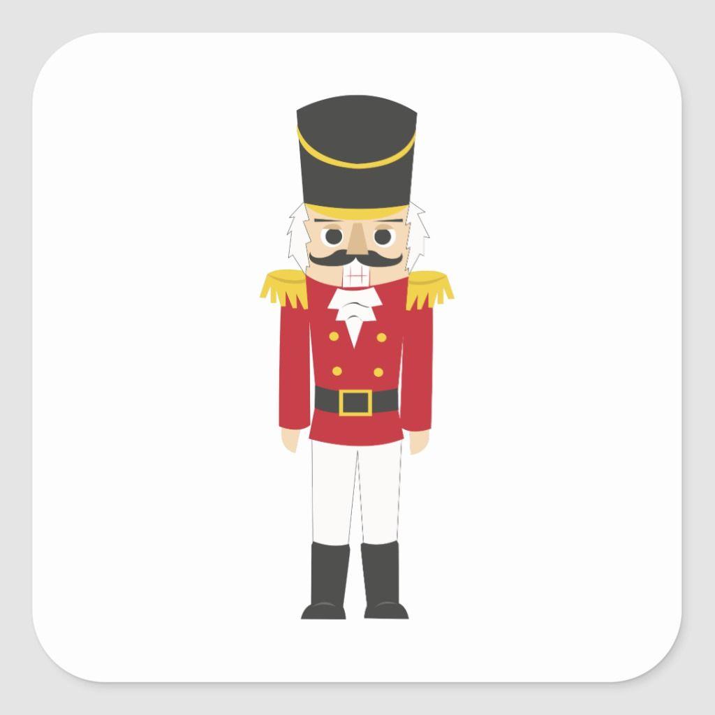 Nutcracker Square Sticker Zazzle Com In 2020 Holiday Icon Create Custom Stickers Stickers