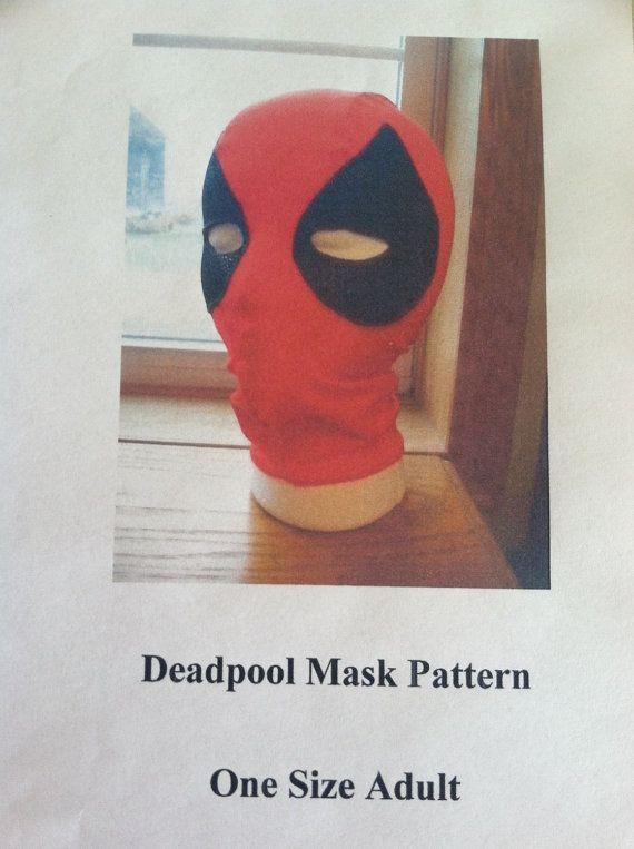 DIY Deadpool Mask Pattern--- Pattern Only, One Size-- Spandex Mask ...