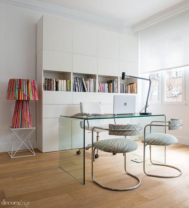 Zona de trabajo integrada al comedor y sal n escritorios - Armarios oficina ikea ...
