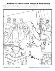 Free Bible Coloring Pages Poor Woman S Gift