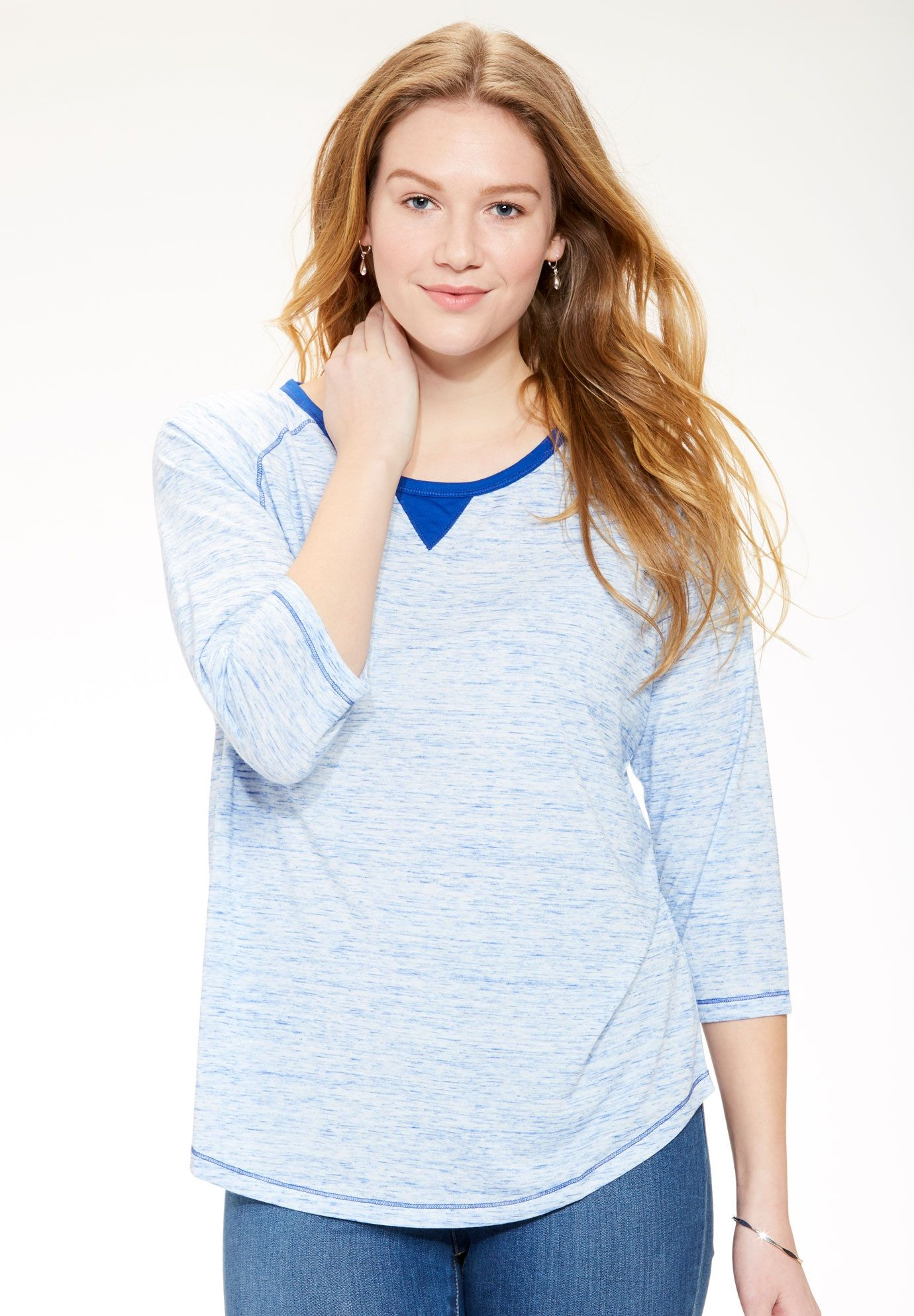 ecee5826c9c The softest plus size tees in the world have out rich marled finish ...