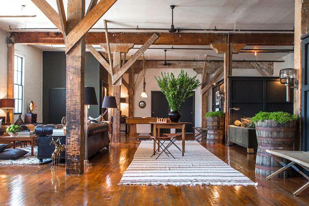 das grozgige loft von scott und kristan im vintage stil - Loft Stil