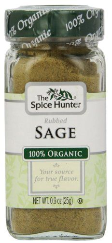 The Spice Hunter Sage, Rubbed, Organic, 0.9-Ounce Jar - http://spicegrinder.biz/the-spice-hunter-sage-rubbed-organic-0-9-ounce-jar/
