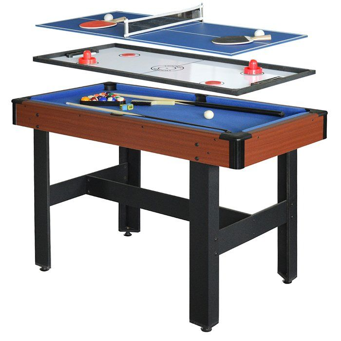 Triad 3 In 1 48 Multi Game Table Multi Game Table Basement Games Game Room Family